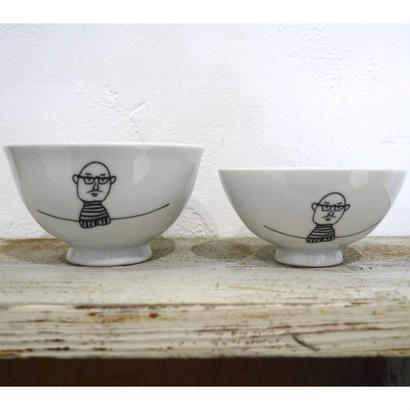 【tomopecco】〈おやじ〉茶碗 大・小