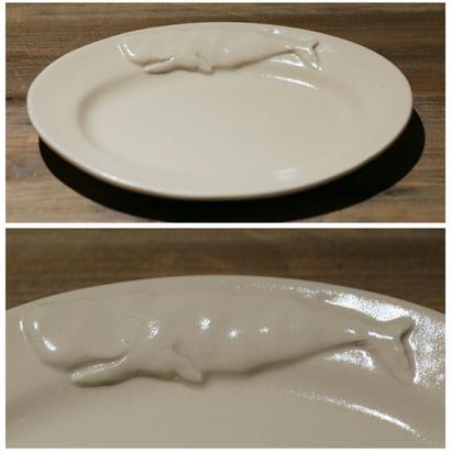 【野村亜土さん】オーバルリム皿 (マッコウクジラ) M