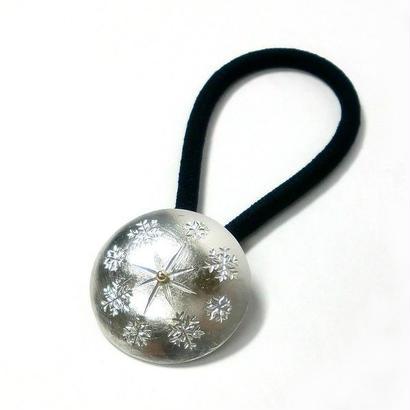 雪の結晶模様のヘアゴム yu-03