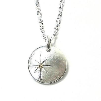 円形太陽のシルバーネックレスA 1点もの