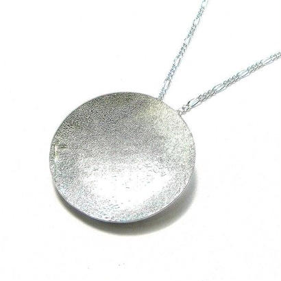銀色の満月 1点ものシルバーネックレス
