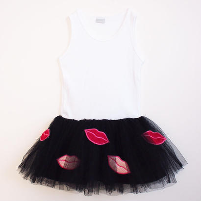Lip tulle tankdress BK