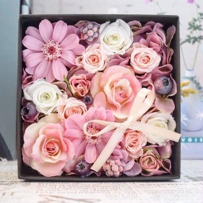 【新作】BOX FLOWER Smoky pink