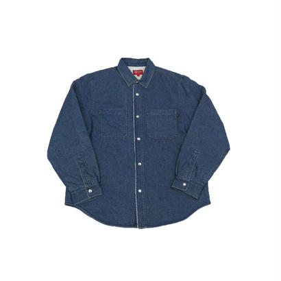 Supreme Sherpa Lined Denim Shirt Blue