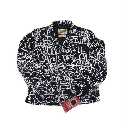 Supreme Comme des Garçons SHIRT Schott Painted Perfecto Leather Jacket