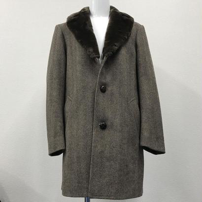 Used Supreme Fur Collar Tweed Coat