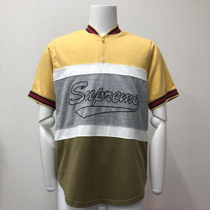 Used Supreme Half Zip S/S Baseball Top