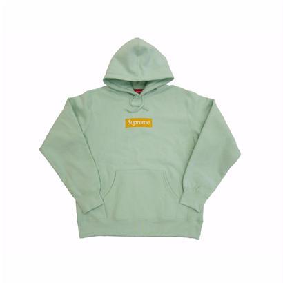 Box Logo Hooded Sweatshirt (Ice Blue)