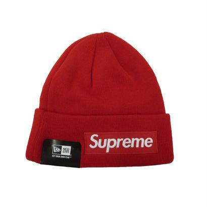Supreme New Era Box Logo Beanie (Red )