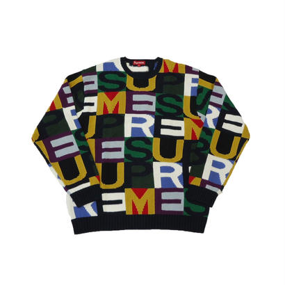 Supreme Big Letters Sweater