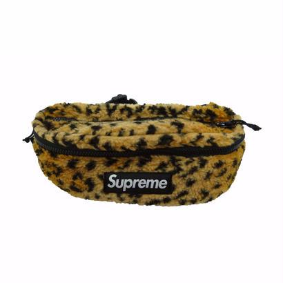 Supreme Leopard Fleece Waist Bag (Yellow)