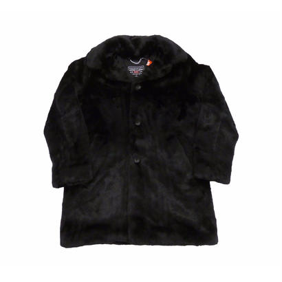 Supreme×HYSTERIC GLAMOUR Fuck You Faux Fur Coat (Black)