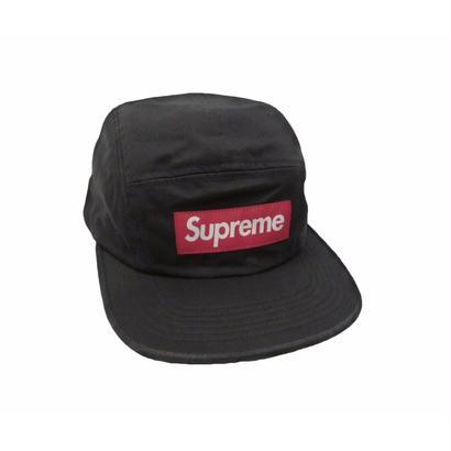 Supreme Washed Chino Twill Camp Cap (Black)