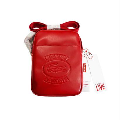 Supreme LACOSTE Shoulder Bag (Red)