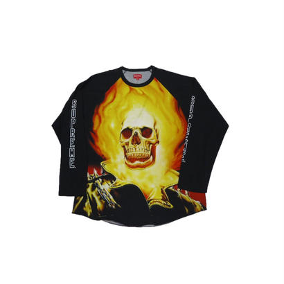 Supreme Ghost Rider Raglan L/S Top