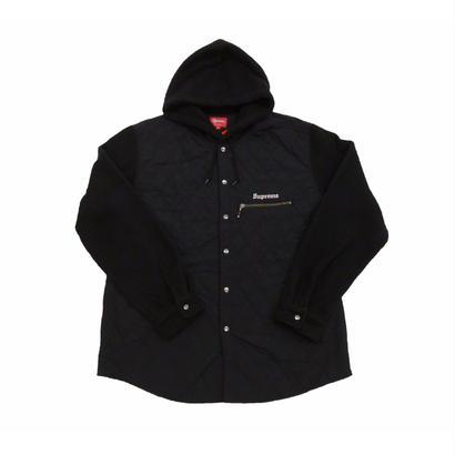 Supreme Hooded Fleece Nylon Shirt (Black)