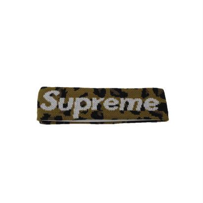Supreme New Era Big Logo Headband (Leopard)