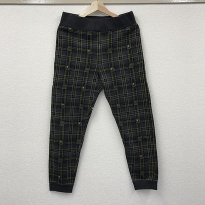 Used A BATHING APE x UNDEFEATED CHECK Slim Sweat Pants