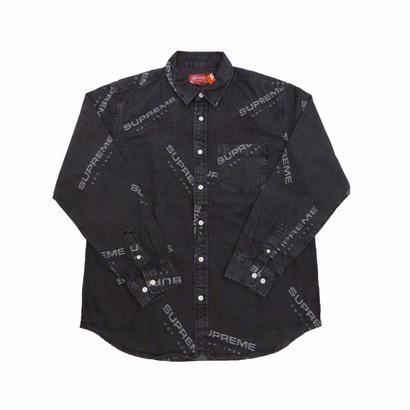 Supreme Jacquard Denim Shirt(Black)