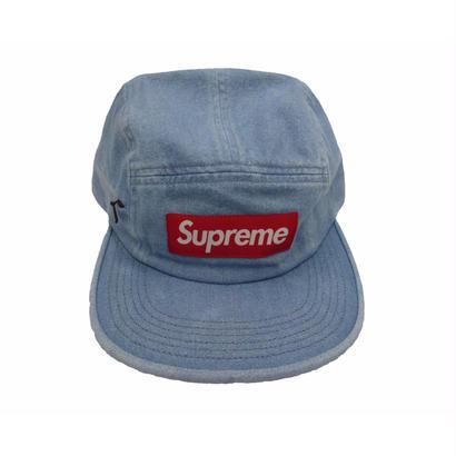 Supreme Side Zip Camp Cap (Denim)