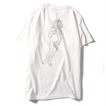 LUCKYWOOD【 ラッキーウッド】NARROW ONE'S EYES VENUS TEE WHITE   Tシャツ ホワイト