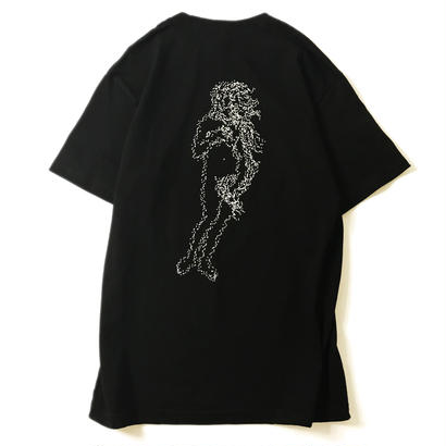 LUCKYWOOD【 ラッキーウッド】NARROW ONE'S EYES VENUS TEE BLACK  Tシャツ ブラック