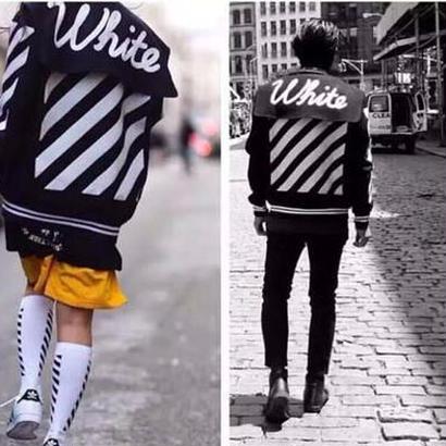 秋冬新品 オフホワイトジャケット 男女兼用white-05