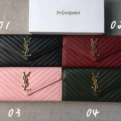 人気 Yves Saint Laurent イヴサンローラン YSL レディース セレブ愛用 長財布 財布 さいふ サイフ ysl-1168