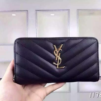 人気 Yves Saint Laurent イヴサンローラン YSL レディース セレブ愛用  長財布 財布 さいふ サイフ ysl-1178