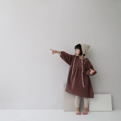 corduroy dress*dusty pink
