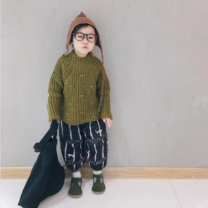 ざっくりセーター*green tea