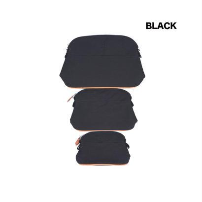 エルメス風・ファブリックバッグLサイズ/Hermes風/ポーチ/バッグインバッグ/Lサイズのみストラップ付き/SB