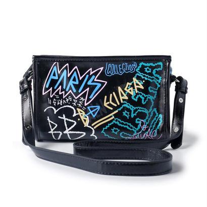 グラフィティ ミニバザールバッグ クラシック バレンシアガstyle バザールバッグ メンズ レディース niko B8050(GREEN)