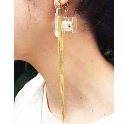 陽(ひ)と風のイヤリング gold                                       両耳セット