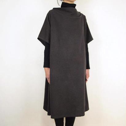 Kimamaルーズネックワンピース(木綿 錆紫)【受注生産対応】
