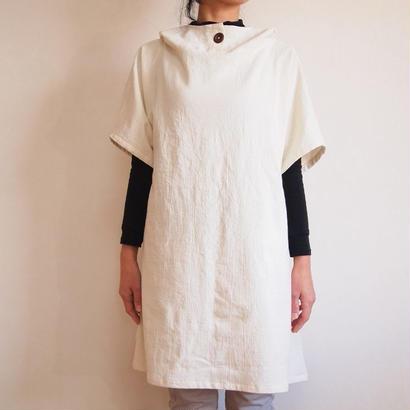 Kimamaフードチュニック(木綿 生成)【受注生産対応】