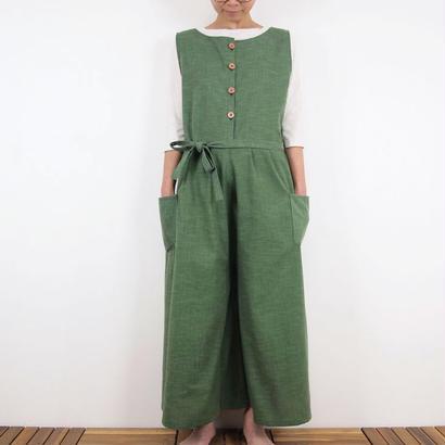 Furusuオーバーオール(木綿 深緑)【受注生産対応】