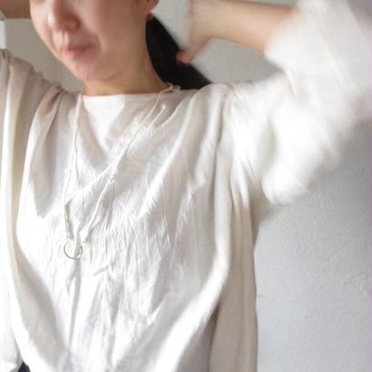 真鍮 竹麻紐ネックレス