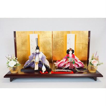 花かさね平飾り(S) 縫取り縮緬 紫 [Hk-70st-b-y441]