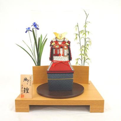 真多呂人形 木目込鎧 菖蒲 竹飾台