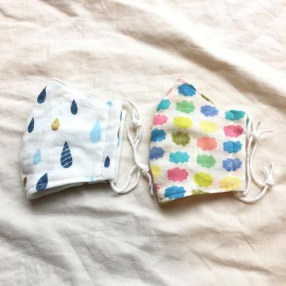子供用4重ガーゼ立体マスク2枚セット#お天気