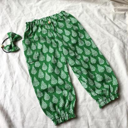 ダブルガーゼの長ズボン#洋ナシgreen