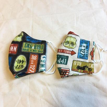 4重ガーゼ立体マスク2枚セット#ナンバープレート