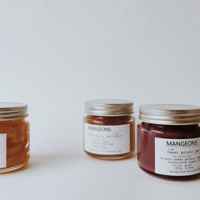 seasonal jam gift 2019 ( Sweet potato, Baked lemon, Baked apple )