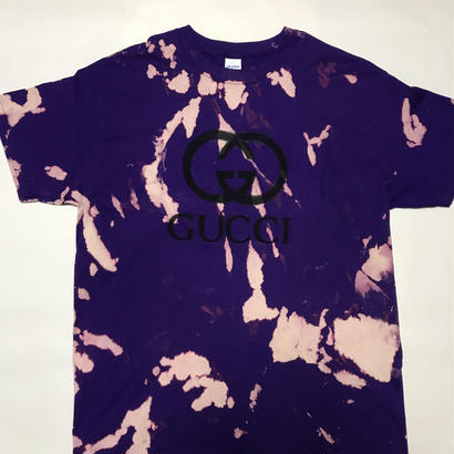 【麻音】BOOT GUCCI  T-SHIRT PURPLE BLEECH