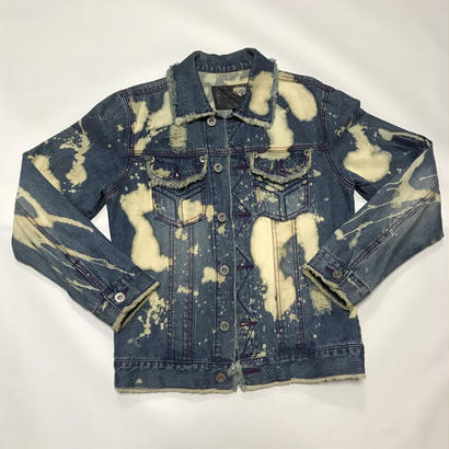 【麻音】BLEECH DENIMJAKET SMOKEHERB