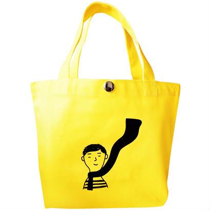 ハラペコボーイの手提げ鞄 黄色