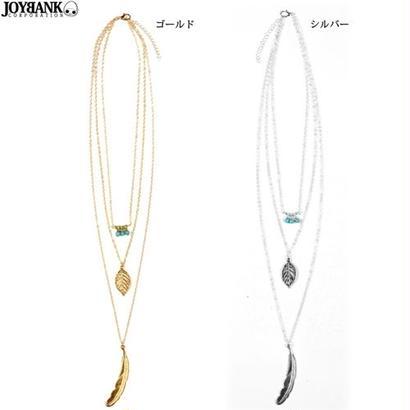 3連ネックレス【ターコイズ/トリプルモチーフ/アクセサリー/ネックレス】