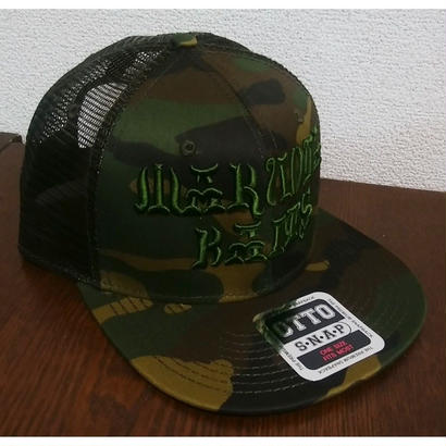 MARUOYA BAITS FLAT VISOR MESH  CAP カモフラ/オリーブ
