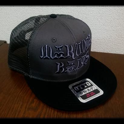 MARUOYA BAITS FLAT VISOR MESH CAP チャコール/ブラック
